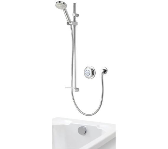 Aqualisa Quartz Concealed Digital Divert Shower And Bath Fill - Gravity Pumped