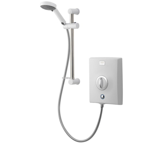 Aqualisa Quartz 8.5kW Exposed Electric Shower With Slide Rail Kit