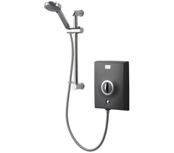Aqualisa Quartz Graphite And Chrome Electric Shower 9.5kW