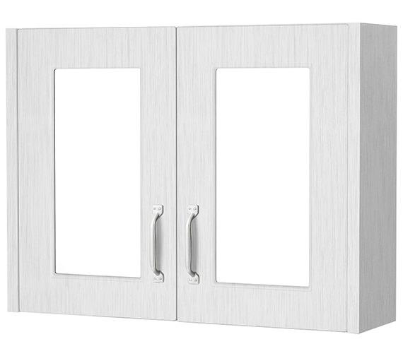 Nuie York 790mm x 595mm 2 Door Mirror Cabinet