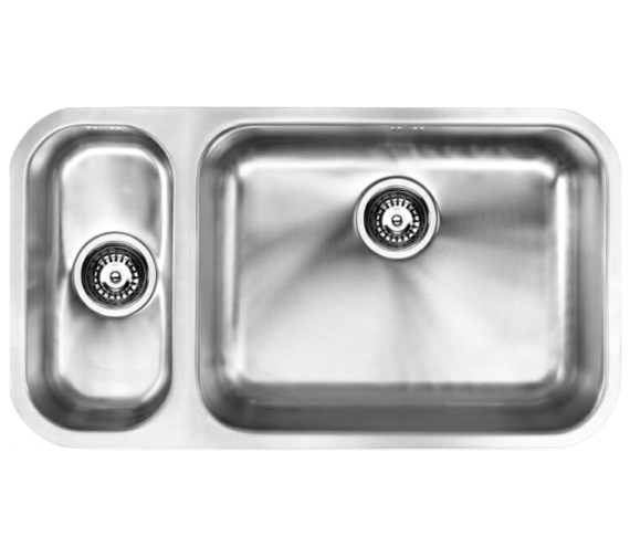 1810 Company Etroduo 191-535U BBR 1.5 Bowl Undermount Sink -Right Hand Big Bowl