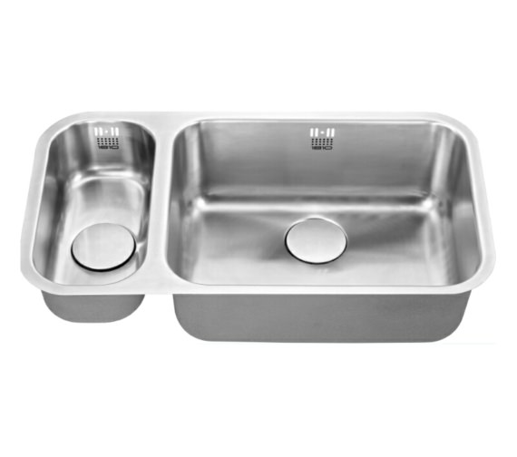 Additional image of 1810 Company Etroduo 191-535U BBR 1.5 Bowl Undermount Sink -Right Hand Big Bowl
