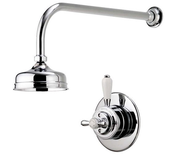 Alternate image of Aqualisa Aquatique Chrome 5Inch Drencher Fixed Head And Wall Arm