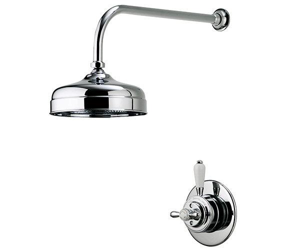 Alternate image of Aqualisa Aquatique Chrome 8Inch Drencher Fixed Head And Wall Arm