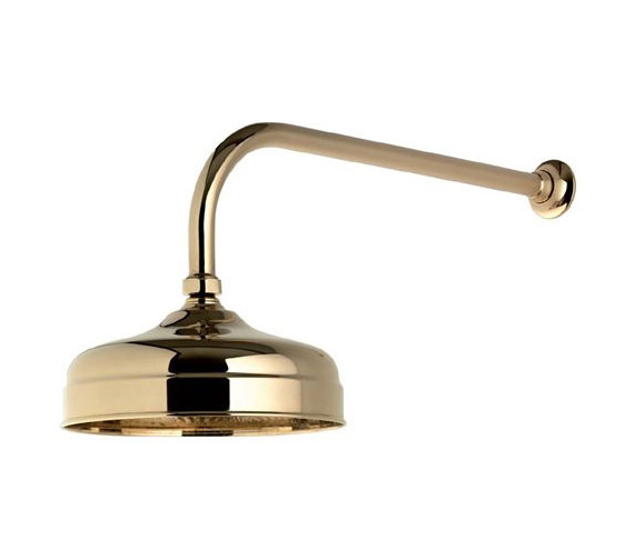Aqualisa Aquatique Gold 8 Inch Drencher Fixed Head And Wall Arm