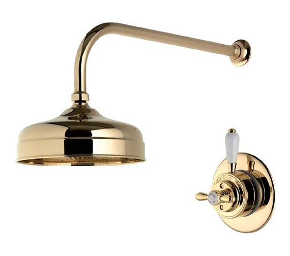 Alternate image of Aqualisa Aquatique Gold 8Inch Drencher Fixed Head And Wall Arm