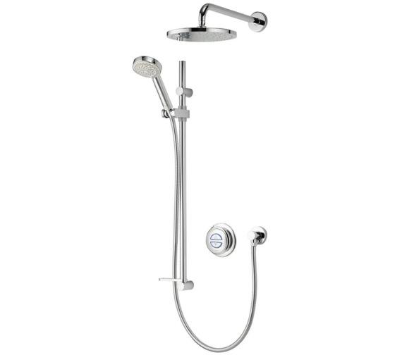 Aqualisa Quartz Digital Divert Hand Shower And Wall Drencher - HP Combi