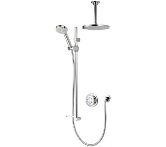 Aqualisa Quartz Digital Divert Shower And Ceiling Drencher - Gravity Pumped