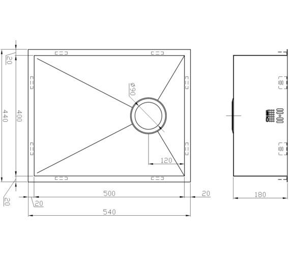 Technical drawing QS-V9110 / ZU/50/U/S/OSW/061