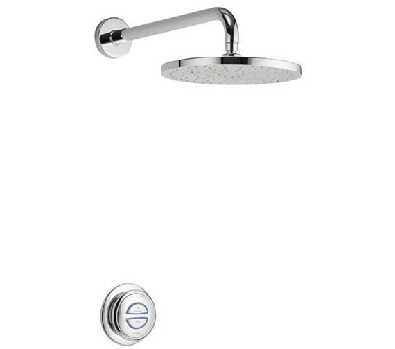 Aqualisa Quartz Concealed Digital Shower With Fixed Head - Gravity Pumped