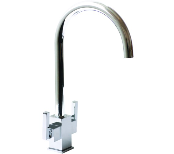 1810 Company Ruscello Square Body Chrome Kitchen Sink Mixer Tap