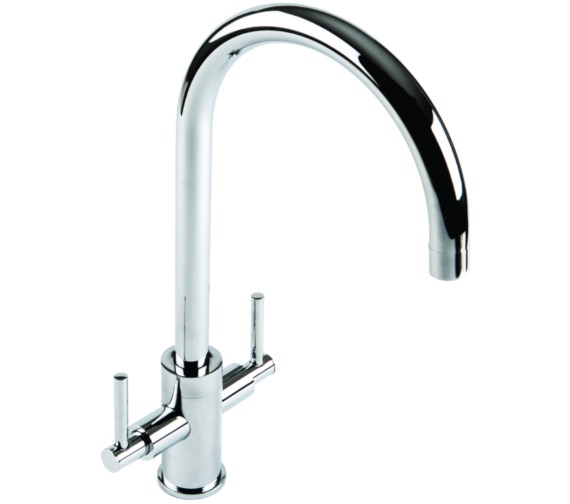 1810 Company Curvato Slim Lever Curved Spout Chrome Kitchen Sink Mixer Tap