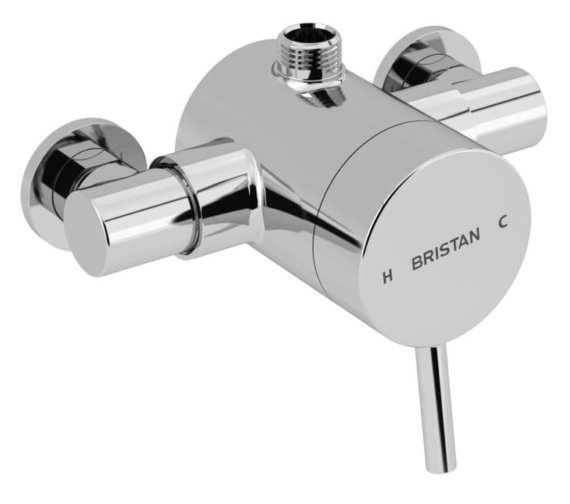 Bristan Prism Thermostatic Exposed Top Outlet Single Control Shower Valve - PM2 SQSHXTVO C
