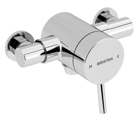 Bristan Prism Thermostatic Exposed Bottom Outlet Single Control Shower Valve