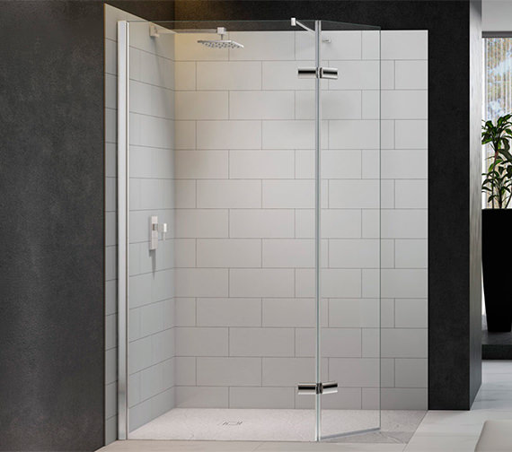 Merlyn 8 Series 1350mm Showerwall With Hinged Swivel Panel