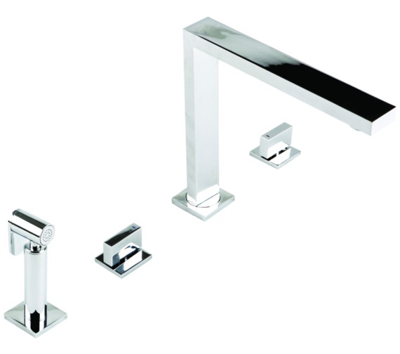 1810 Company Novanta 4 Hole Design Chrome Kitchen Sink Mixer Tap