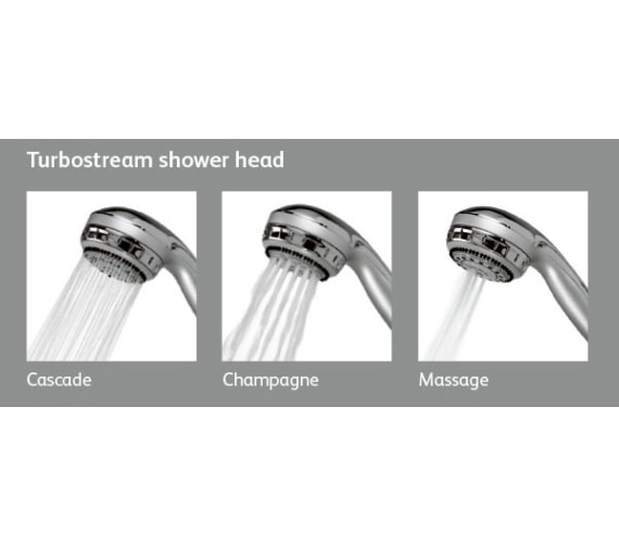 Alternate image of Aqualisa Chrome Shower Slide Rail With Turbostream Head