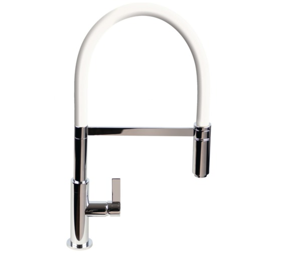 1810 Company Spirale Flexible Spout Chrome Sink Mixer Tap With White Hose