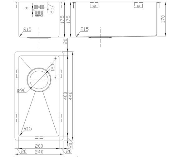 Technical drawing QS-V9123 / ZU/20/U15/S/086