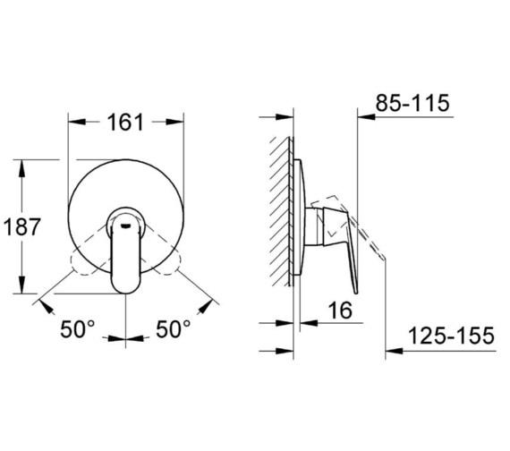 Technical drawing QS-V58264 / 19383000