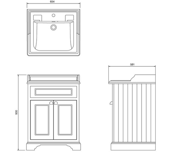 Technical drawing QS-V38805 / FF8S