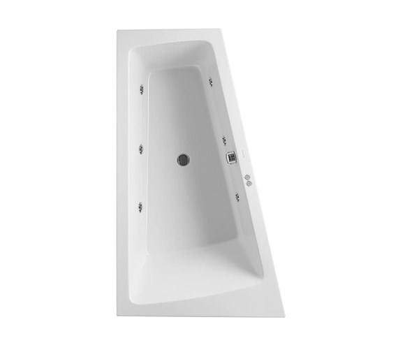 Duravit Paiova 1800 x 1400mm Left Slope Bath With Frame - Jet System