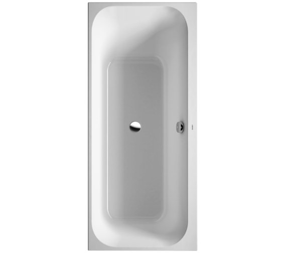 Duravit Happy D2 Built-In 1600 x 700mm Bath Right Slope With Frame