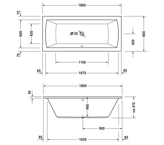 Technical drawing QS-V10820 / 760028000CL1000