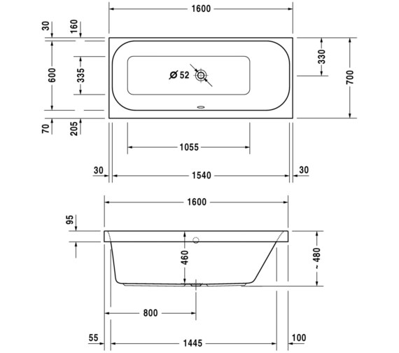 Technical drawing QS-V3545 / 700309000000000