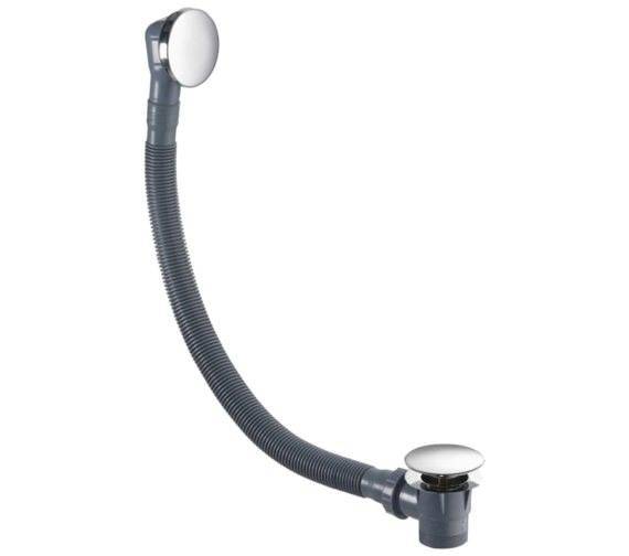 Flova Bath Clicker Waste With Flat Overflow Cover