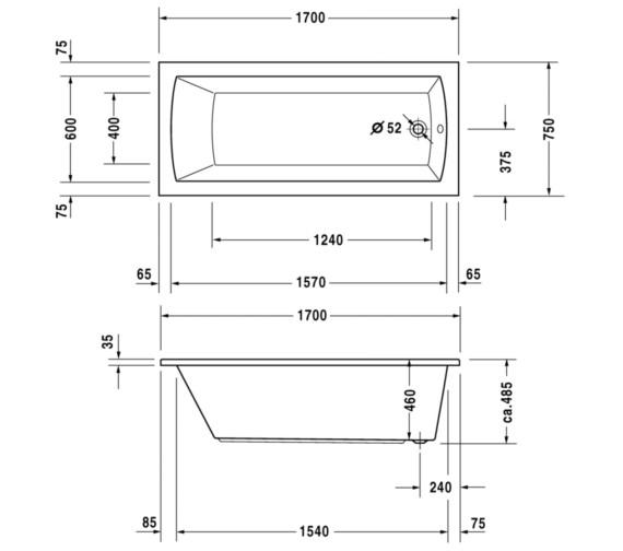 Technical drawing QS-V10816 / 760027000JS1000