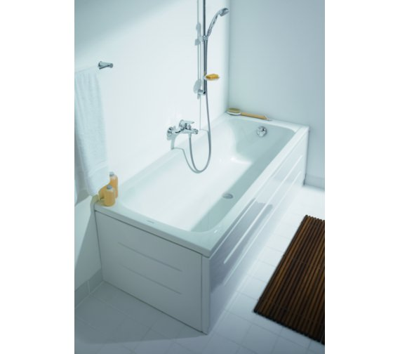 Additional image of Duravit D-Code 1700 x 750mm Rectangular Bath - Central Outlet