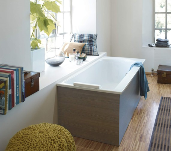 Additional image of Duravit Darling New 1700 x 750mm Bath With One Backrest Slope Left