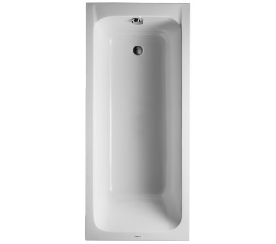 Duravit D-Code 1600 x 700mm Rectangular Bath - Outlet In Foot Area