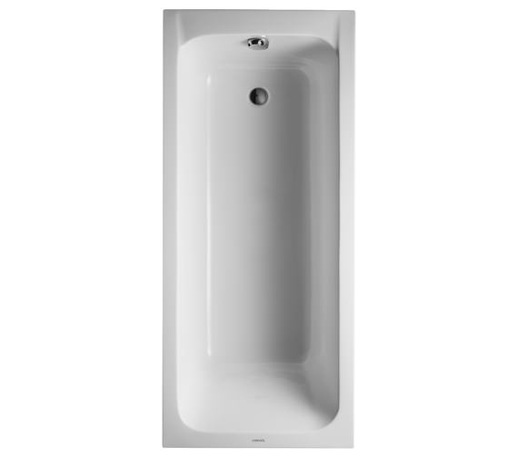 Duravit D-Code 1700 x 750mm Rectangular Bath - Outlet In Foot Area