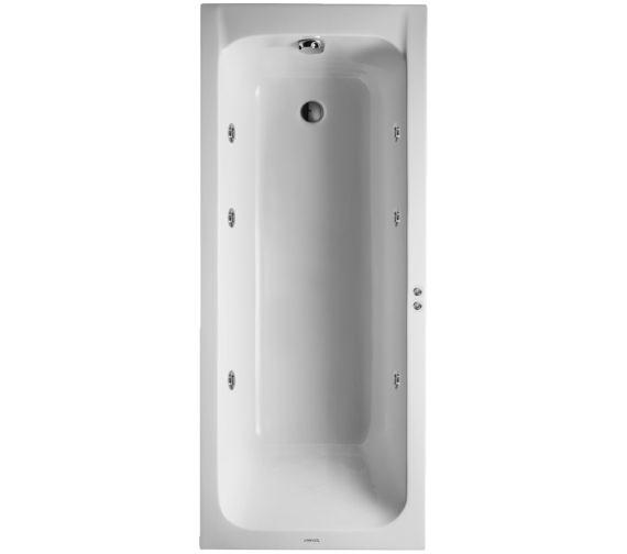 duravit d code 1700x700mm bath outlet in foot area jet. Black Bedroom Furniture Sets. Home Design Ideas