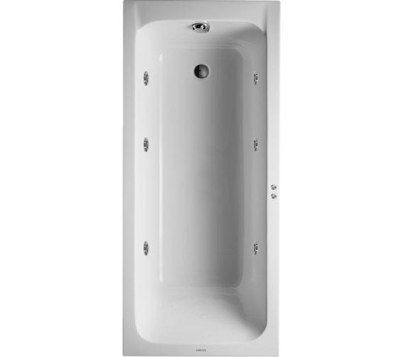 duravit d code 1600x700mm bath outlet in foot area jet. Black Bedroom Furniture Sets. Home Design Ideas