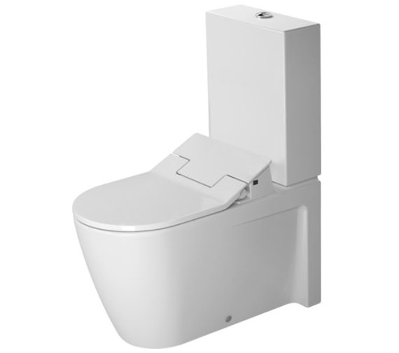 Duravit SensoWash Slim Seat With Starck 2 Close Coupled Toilet