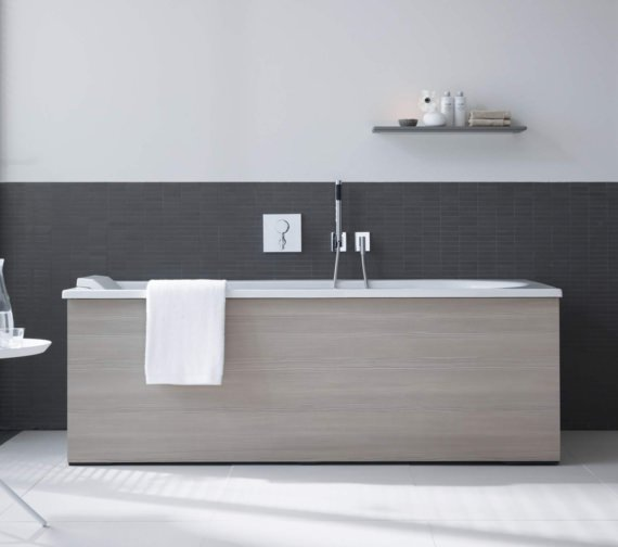 Alternate image of Duravit Darling New 1700x750mm Bath With Right Slope And Support Frame