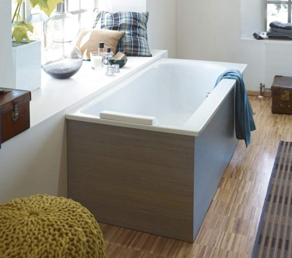 Alternate image of Duravit Darling New Built-In Or For Panel Whirlpool Bath With One Backrest Slope