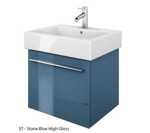 additional image of duravit xlarge 450mm vanity unit with 500mm vero washbasin