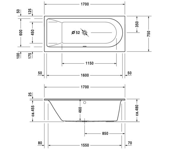 Technical drawing QS-V59291 / 700254000000000