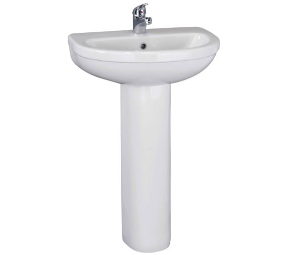 Beo Capital 550mm 1 Tap Hole Basin And Full Pedestal