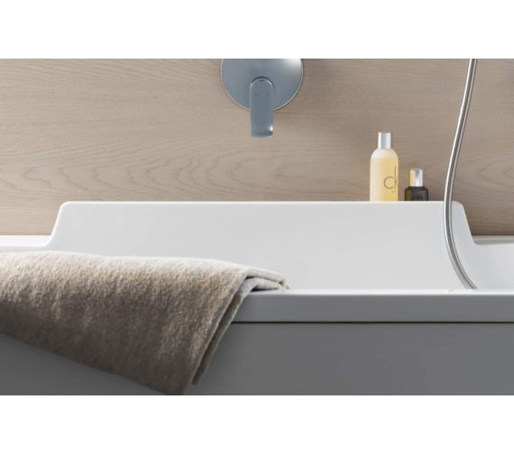 Additional image of Duravit DuraStyle Rectangular Whirltub With One Backrest Slope