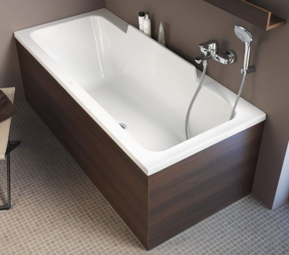 Additional image of Duravit DuraStyle 1700 x 700mm Bath With Left Slope And Support Frame
