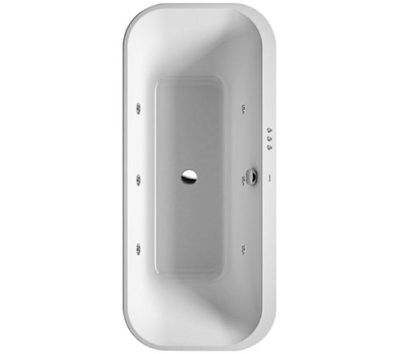 Duravit Happy D2 Freestanding 1800 x 800mm Bath With Panel - Jet-System