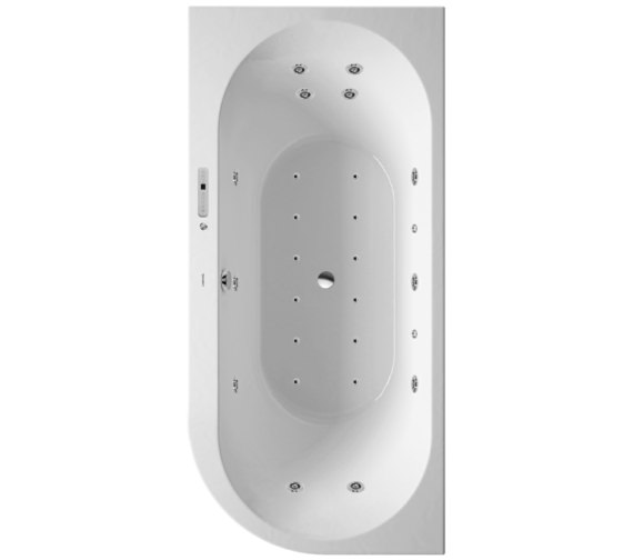 Duravit Darling New 1900 x 900mm Corner Left Bath With Combi-System E