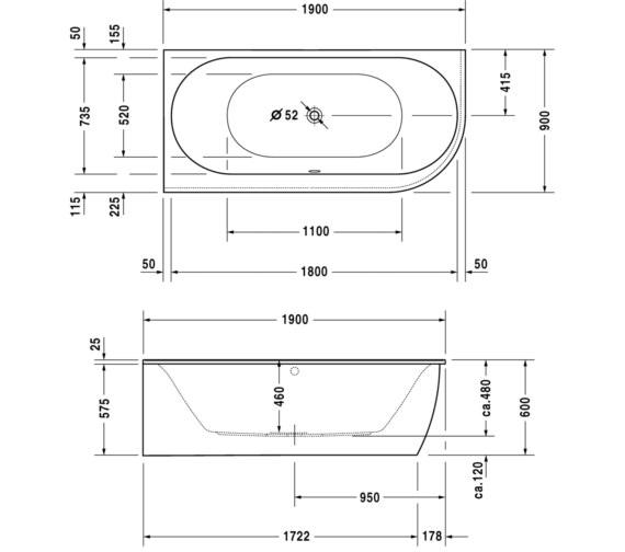 Technical drawing QS-V83481 / 760246000JS1000