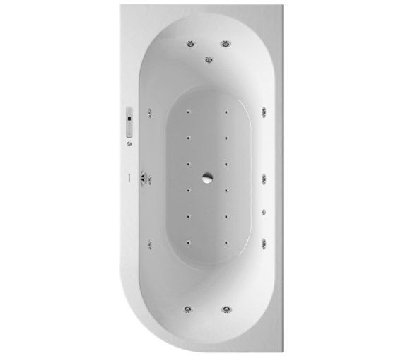 Duravit Darling New 1900 x 900mm Corner Left Bath With Combi-System L