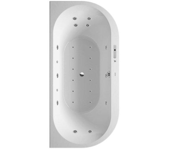 Duravit Darling New 1900 x 900mm Back-To-Wall Bath With Combi-System E